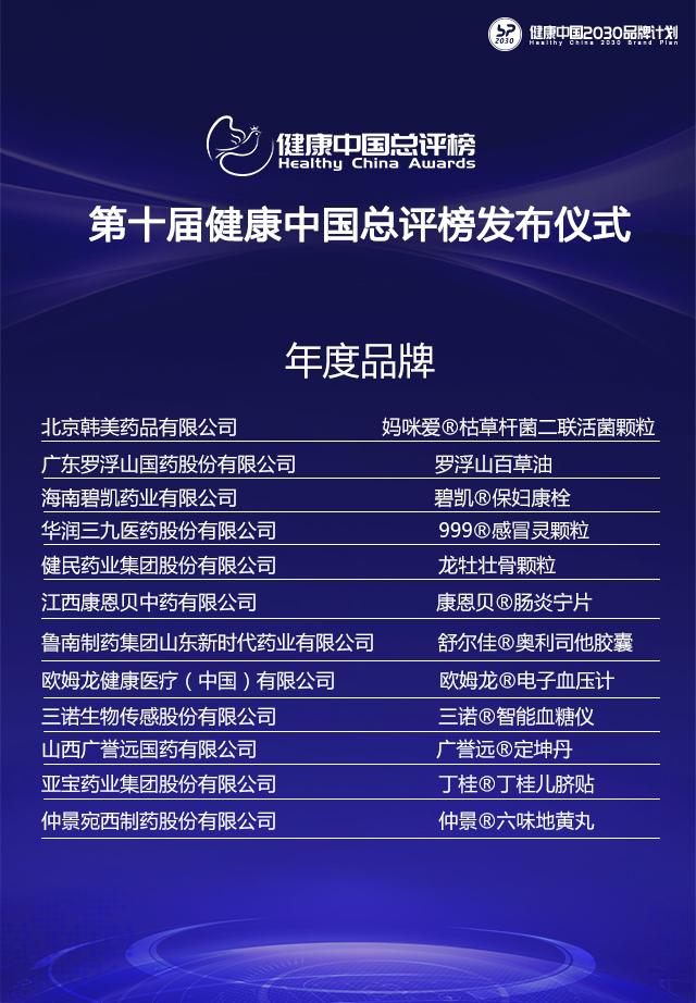 """三诺荣获第十届健康中国总评榜""""年度品牌"""""""