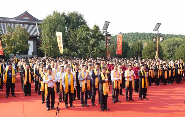 力诺集团26周年庆典祭拜活动,体现中医药文化的博大与精深